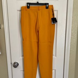 Massimo Dutti dress mustard pants
